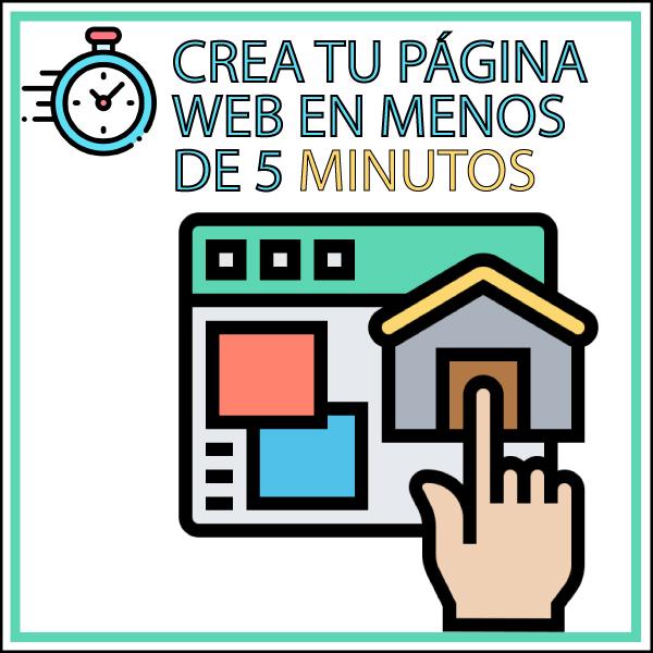 Crea tu pagina web en 5 minutos